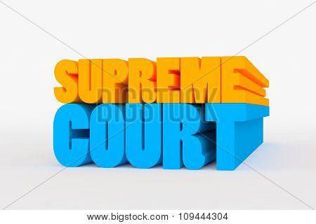 Big 3D Bold Text - Supreme Court
