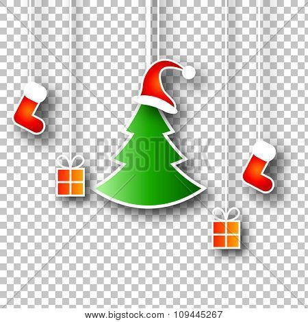 Christmas Design Elements on Isolated Background | Vector Illustration