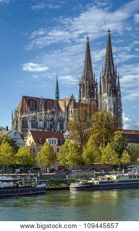 View Of Regensburg Cathedral, Germany