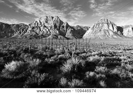 Geologic Rock Formations Red Rock Canyon Las Vegas Usa