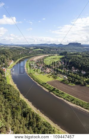 Natural Park Bastei. Elbe. Saxony. Germany.