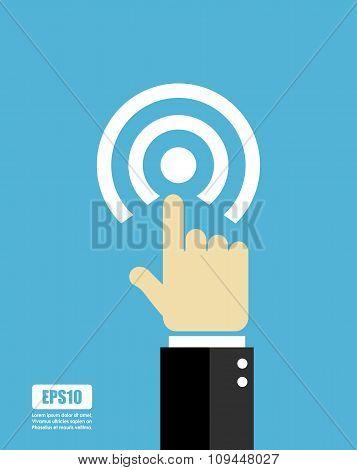 Press button icon