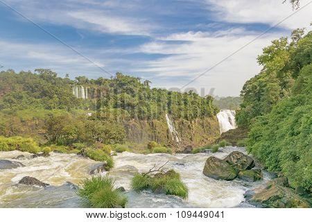 Aerial View Of Iguazu Waterfalls