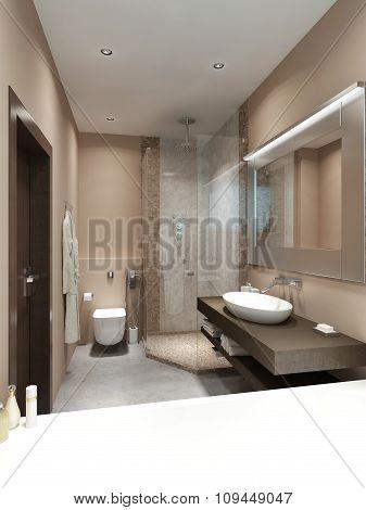 Design In Contemporary Style Bathrooms.