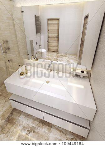 Modern Bathroom In 5 Star Hotel.