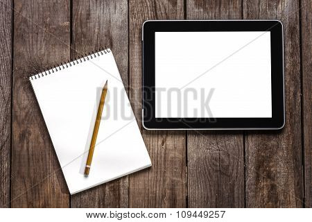 Sketchbook, Pencil And B Computer Tablet