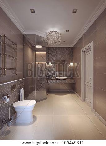 A Bathroom In Modern Style.