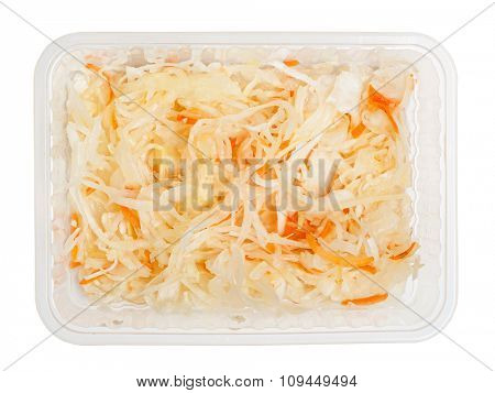 Sauerkraut isolated on white