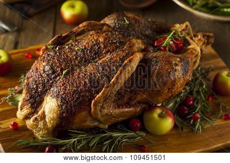 Homemade Roasted Duck With Herbs