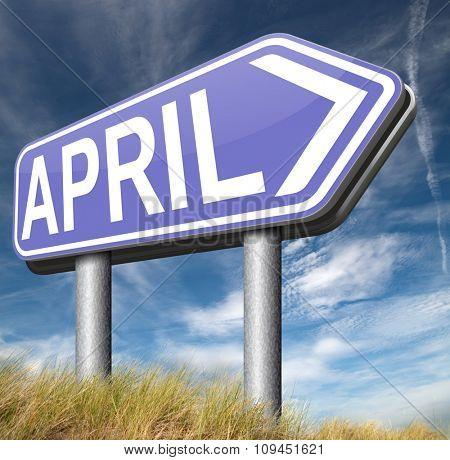 april spring month event calendar schedule