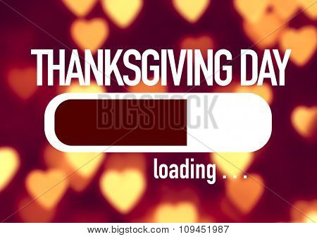 Progress Bar Loading with the text: Thanksgiving Day