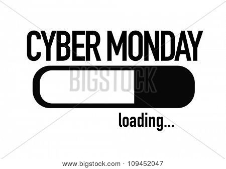Progress Bar Loading with the text: Cyber Monday