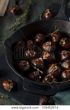 Organic Roasted Chestnuts With Herbs