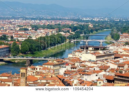Florence. View Of The City From Above .