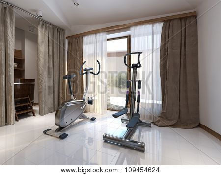 Fitness Room Contemporary Style