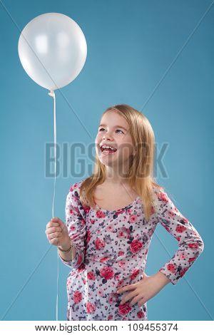 Little Girl With Ballon