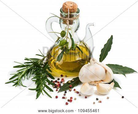Virgin Olive Oil, Garlic, Rosemary, Laurel And Pepper