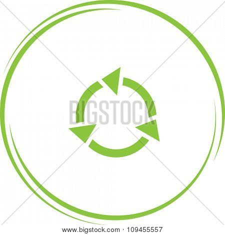 recycle symbol. Internet button. Raster icon.