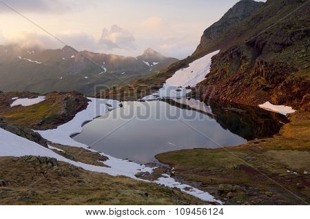 Anayet lake in Pyrenees, Canal Roya Valley, Huesca, Aragon, Spain.