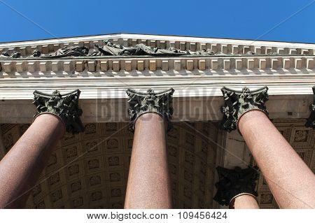 columns and portico