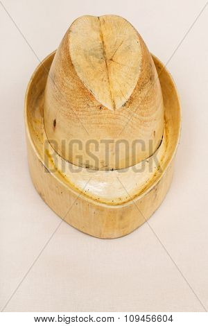 Hat-block Made For Shaping Of Tyrolean Hat