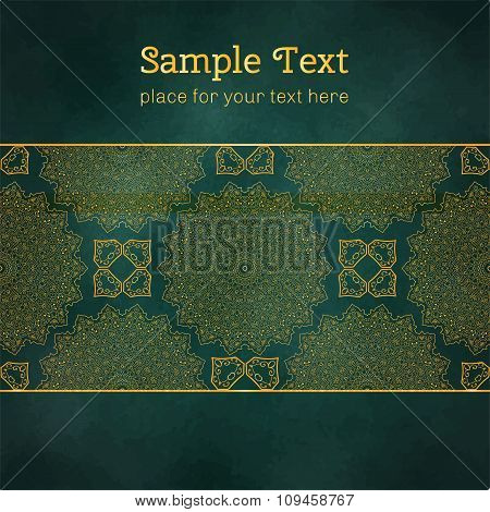 Cards Or Invitations With Mandala Pattern.