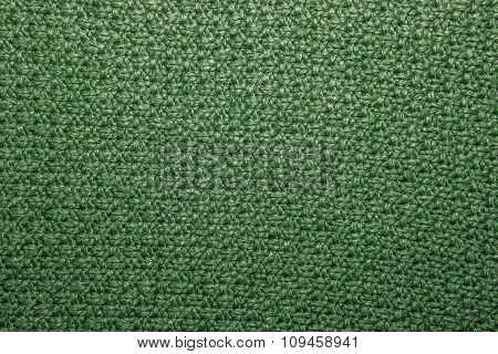 Seed Stitch In Green Yarn As An Abstract Background Texture