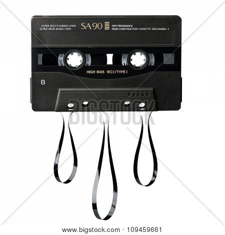 cassette with tape out