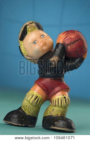 vintage toy goalkeeper