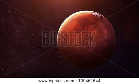 Mars - High resolution best quality solar system planet. All the planets available. This image eleme