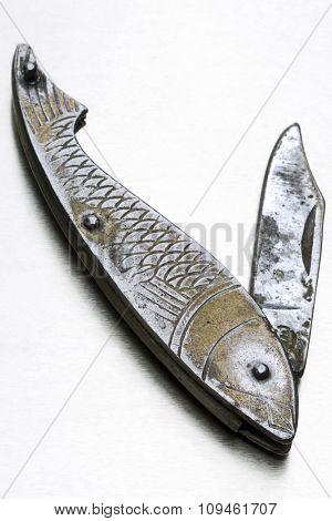 fishlike metal penknife