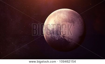 Pluto - High resolution best quality solar system planet. All the planets available. This image elem