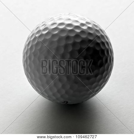 white golf ball on white