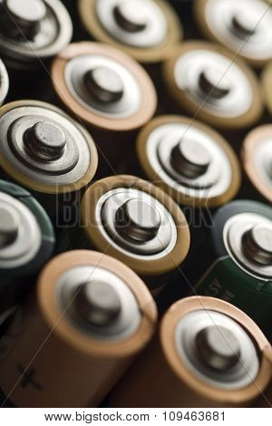 framefull of batteries - shallow depth of field (focus on the second row)