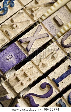 engraved rubber stamp symbols