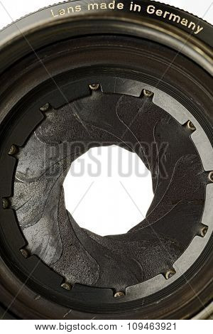 a lens aperture blades opening