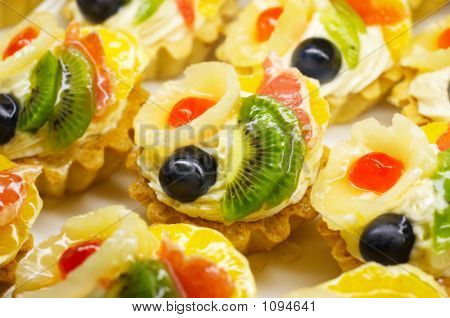 Bright Colored Fruit Cakes