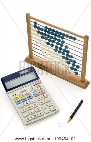 calculation tools on white
