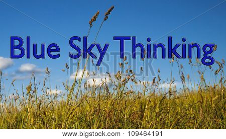 Blue Sky Thinking, Concept For Business Ideas, Innovation and Original Thinking.