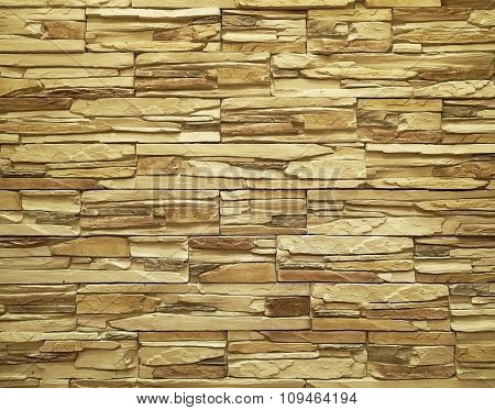 Texture Of Rough Stone Wall