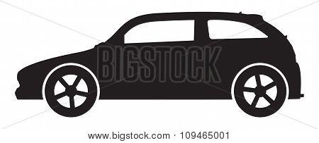 Sporty Hatchback Silhouette