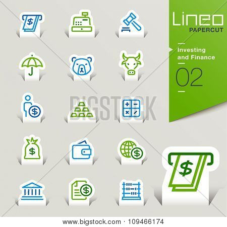 Lineo Papercut - Investing and Finance outline icons