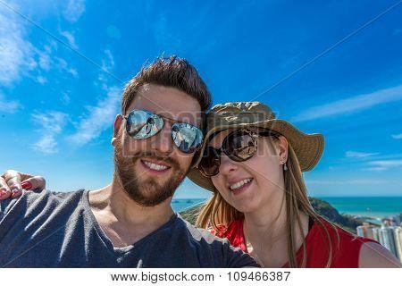 Happy couple in Vitoria, Espirito Santo, Brazil