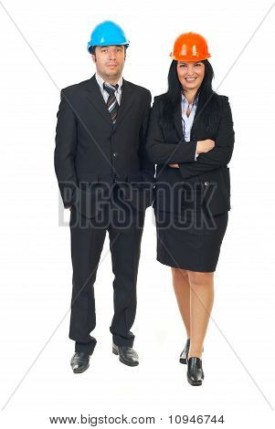 Two Architects In Formal Wear