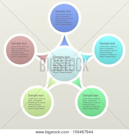 Five part business infographics template
