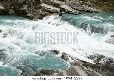 Photography of beautiful waterfall on rocks