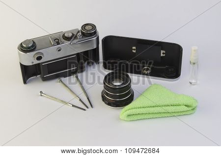 Cleaning of the camera