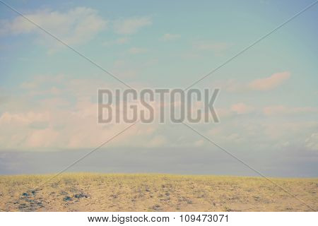 Countryside Horizon Sky Clouds Vintage Filter