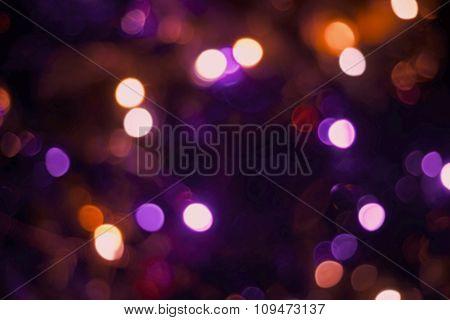Christmas Decoration Light Blur Holiday Background
