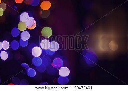 Christmas Lights Bokeh Blur Color Card Background